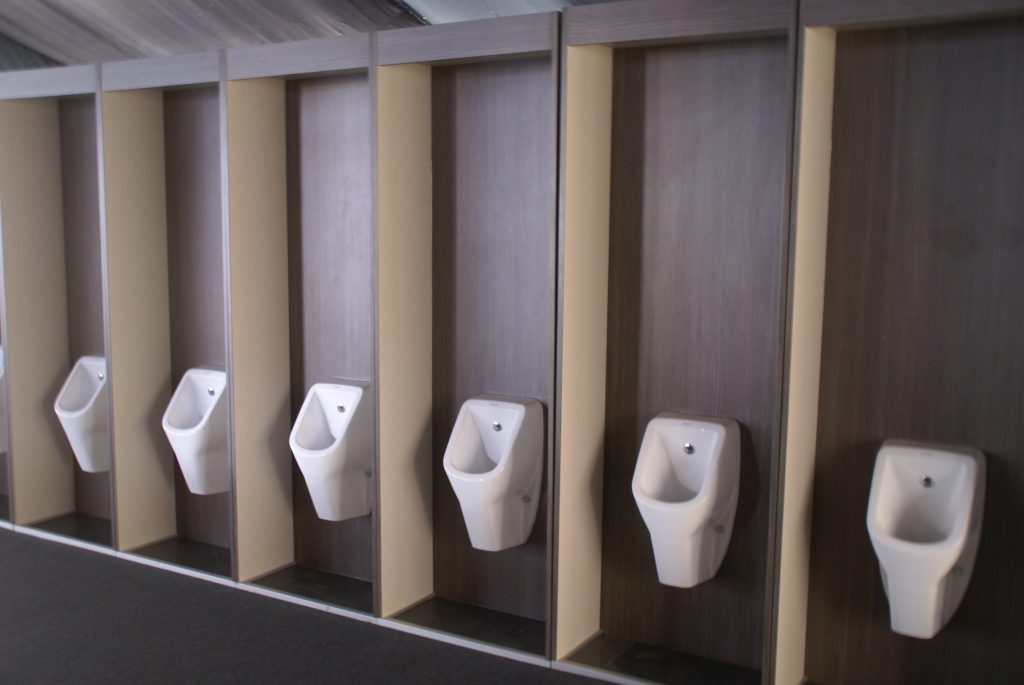 Flexiloo row of urinals