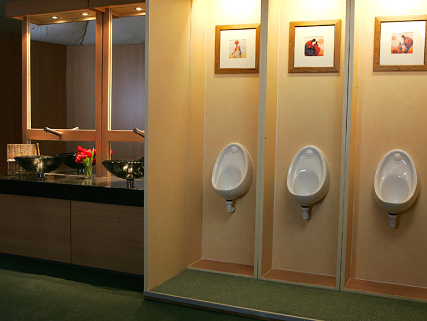 Flexiloo urinals and sinks