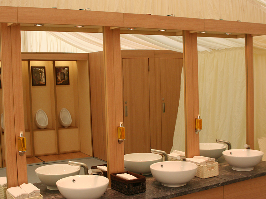 Flexiloo sinks, cubicles and urinals