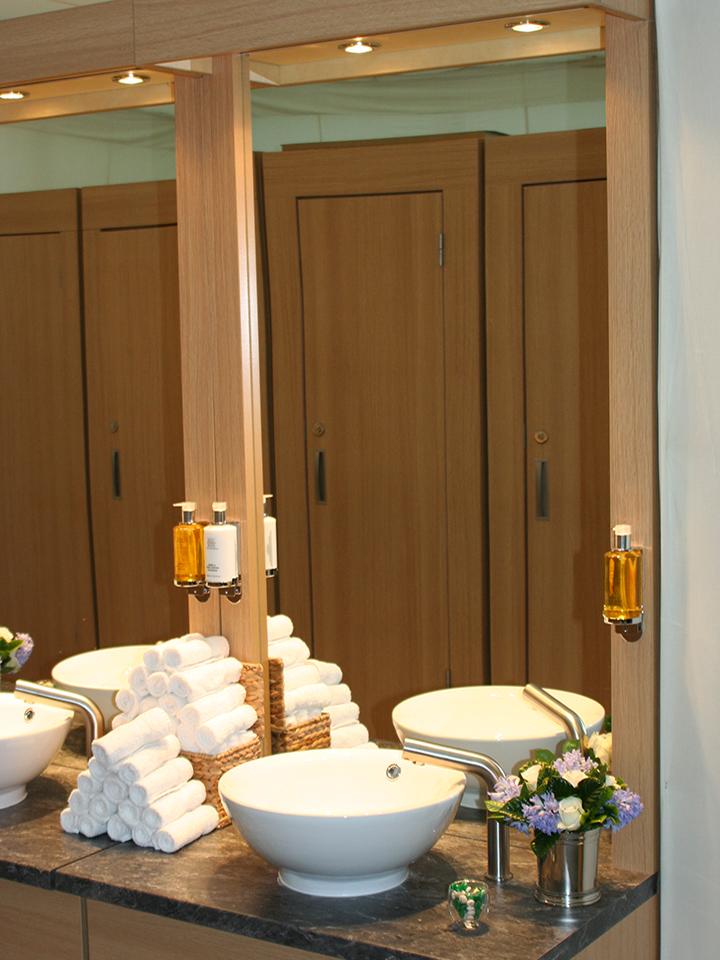 Mirror view of Flexiloo temporary toilets