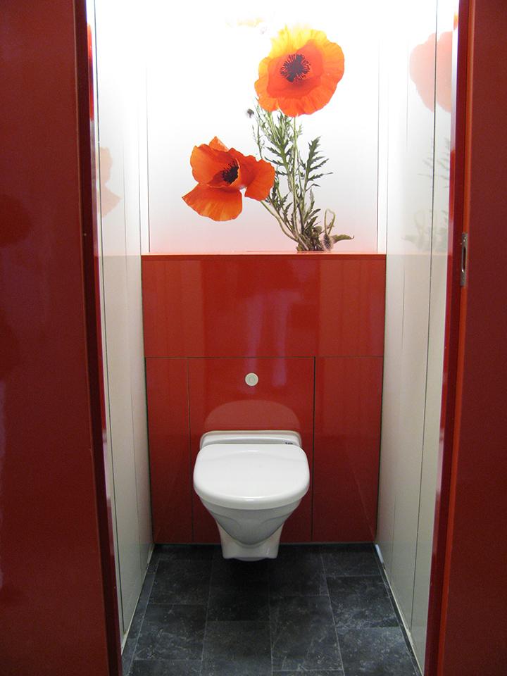 Flexiloo temproary toilet with Poppy design
