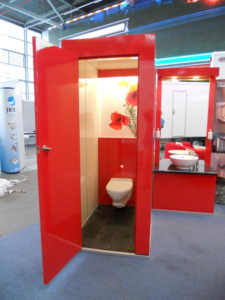 Flexiloo toilets in showroom